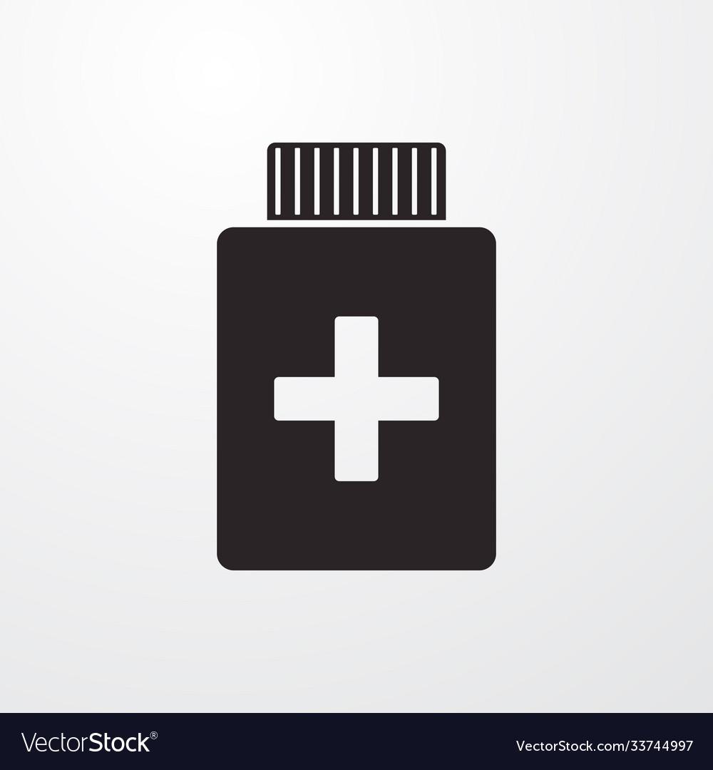 Medical bottle sign icon bottle symbol