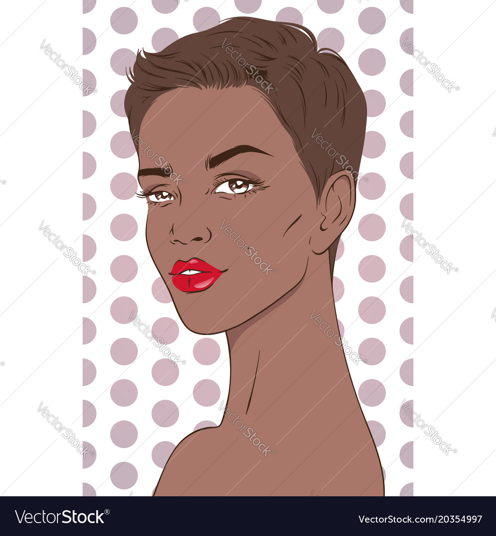 Portrait of beautiful african american woman with