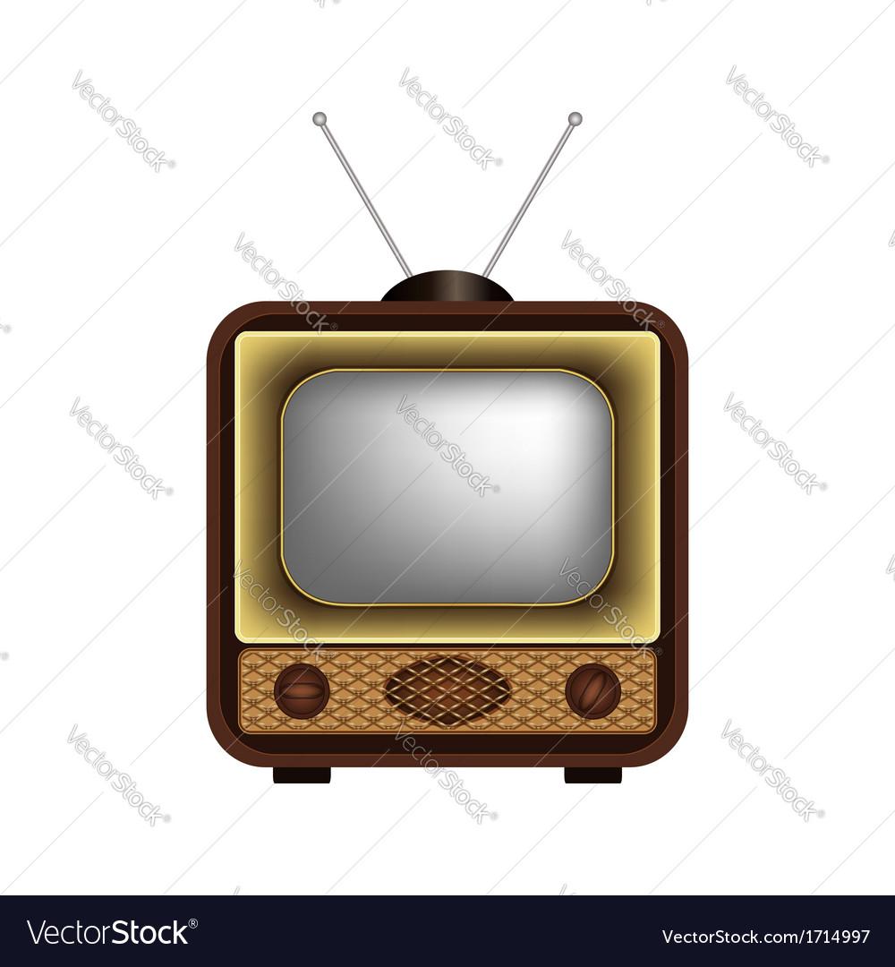 Retro TV on a white background