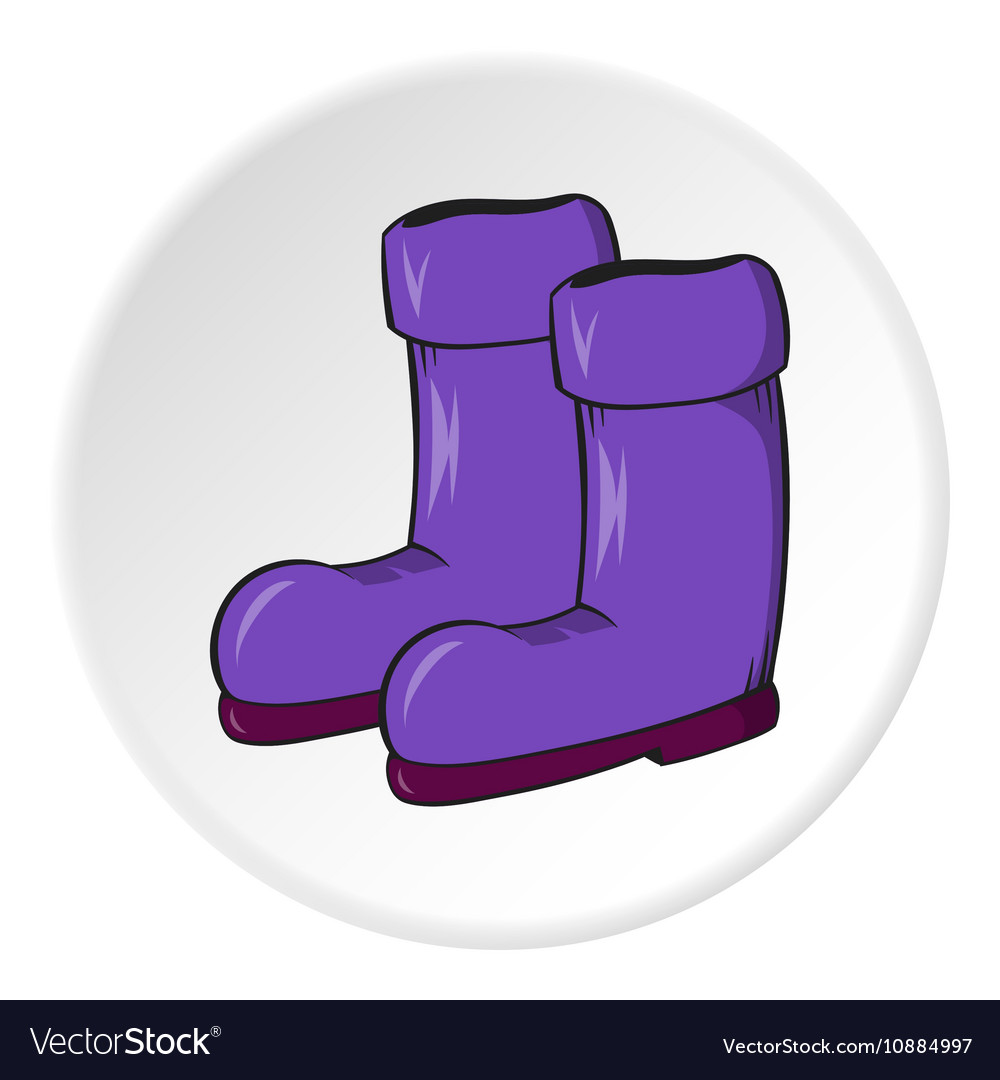 rubber boots icon cartoon style royalty free vector image