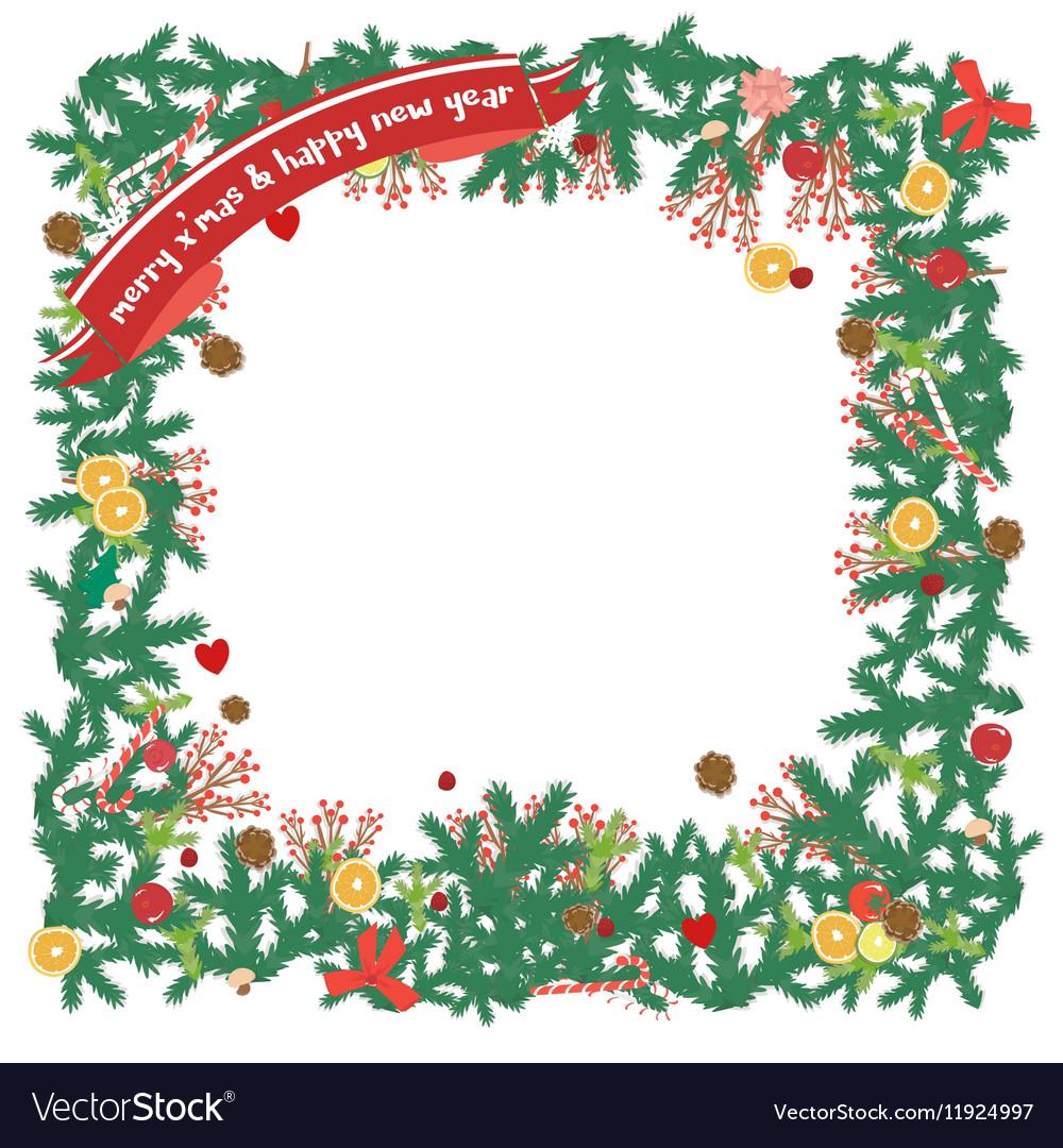 Top view christmas decoration copyspace