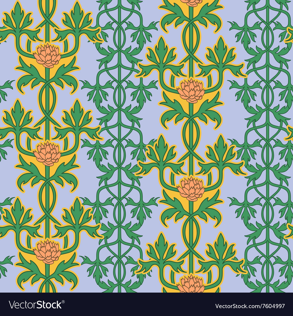 Vintage seamless pattern art nouveau ornament
