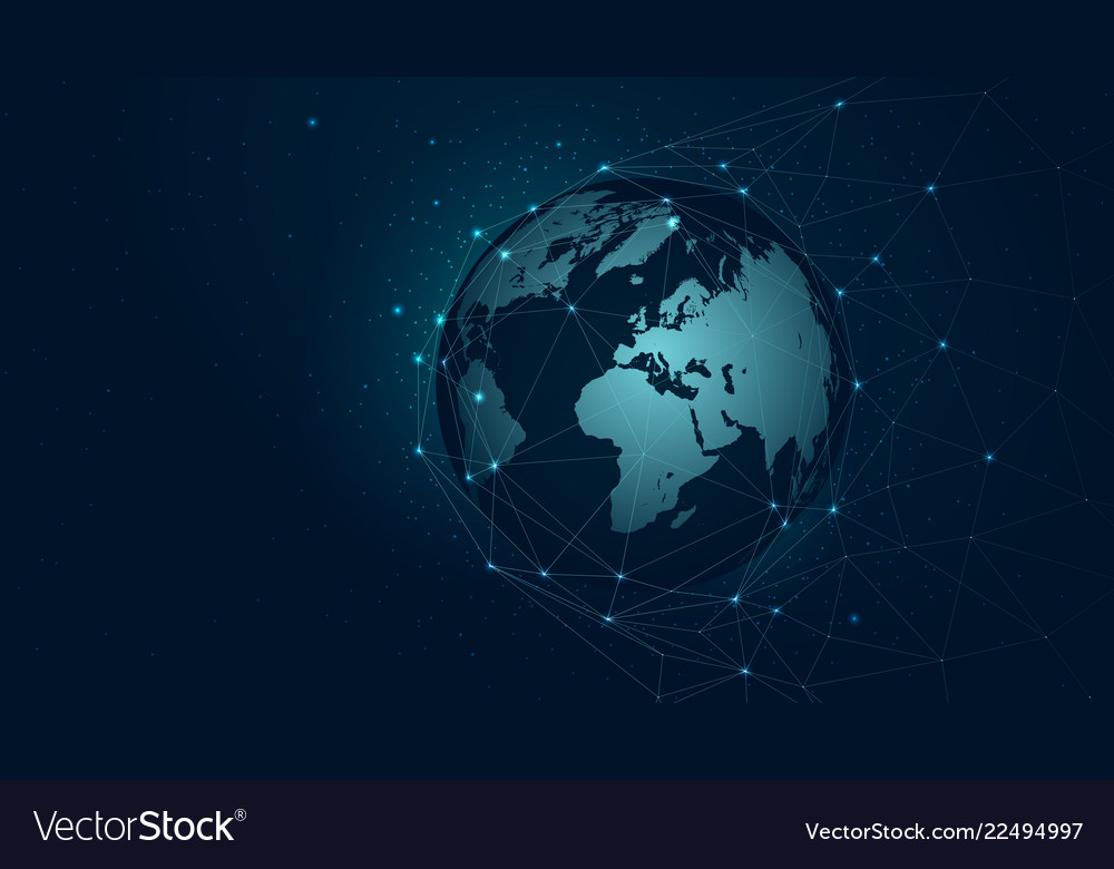 World map global network connection background