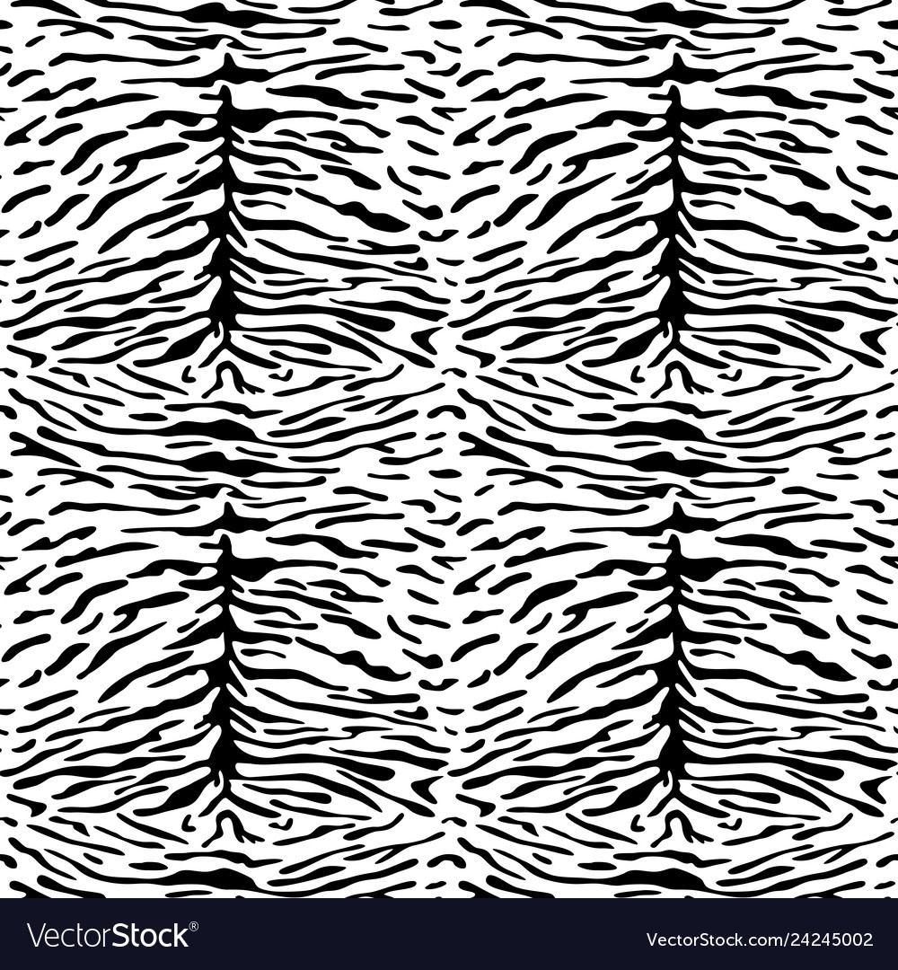 Abstract animal tiger seamless pattern