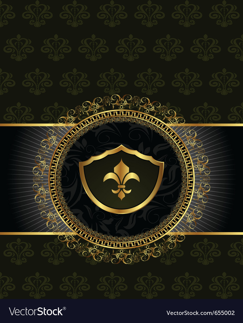 Cute background with heraldic element vector image