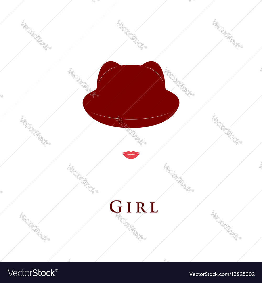 Girl hat with small ears vector image