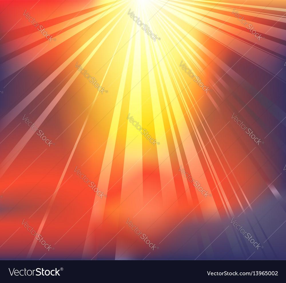Heavenly light background vector image
