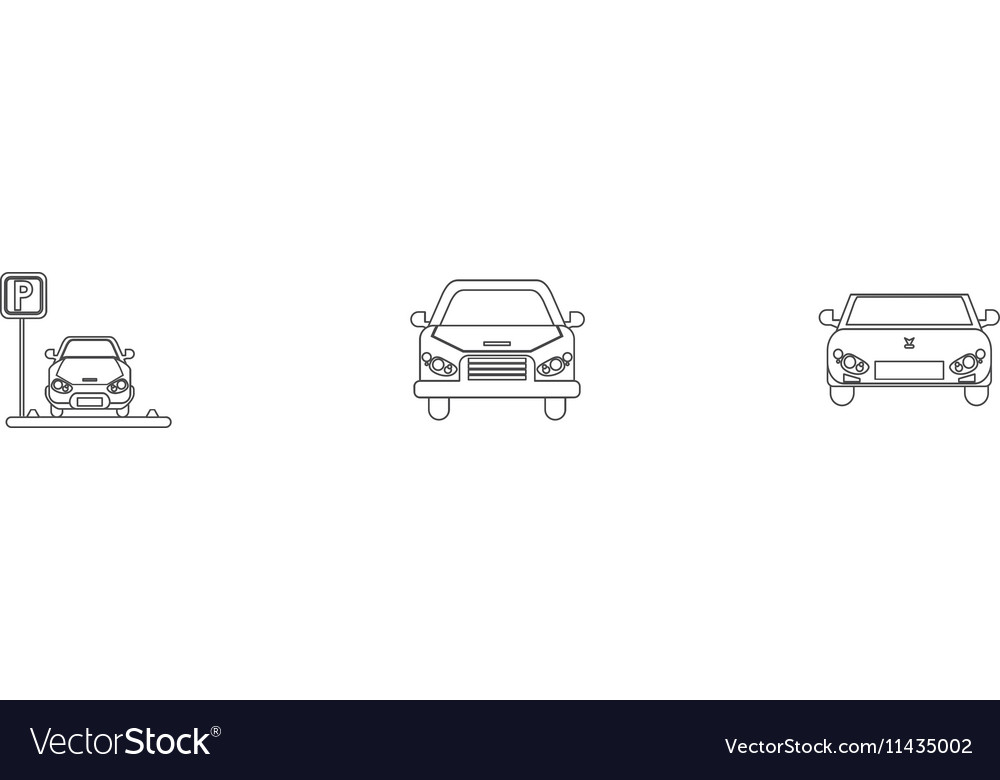 Isolated car vehicle silhouette design