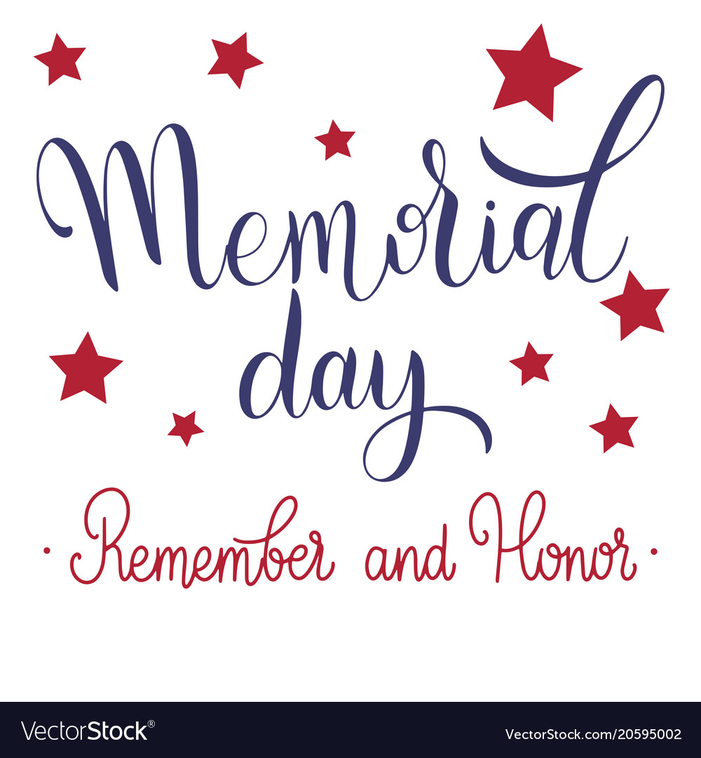 Memorial day lettering