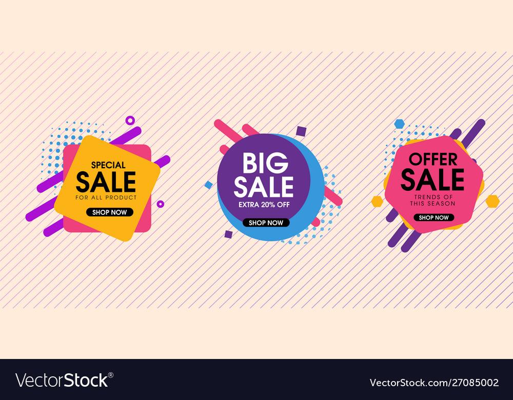Modern abstract trendy sale design set