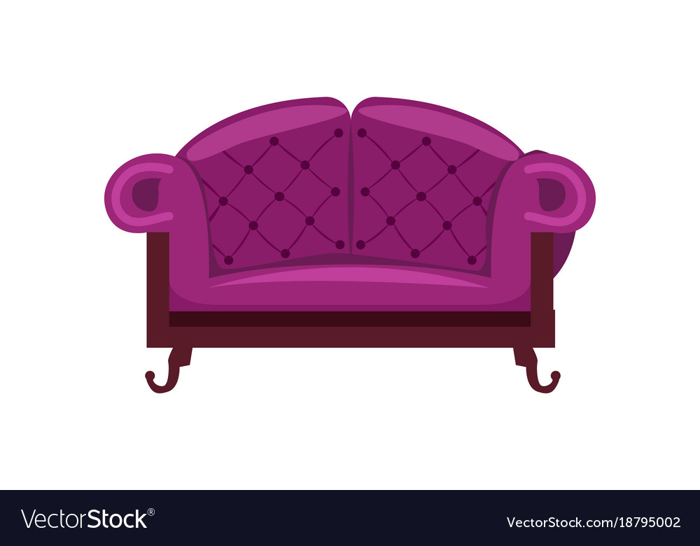 Admirable Purple Sofa Isolated Icon Gmtry Best Dining Table And Chair Ideas Images Gmtryco