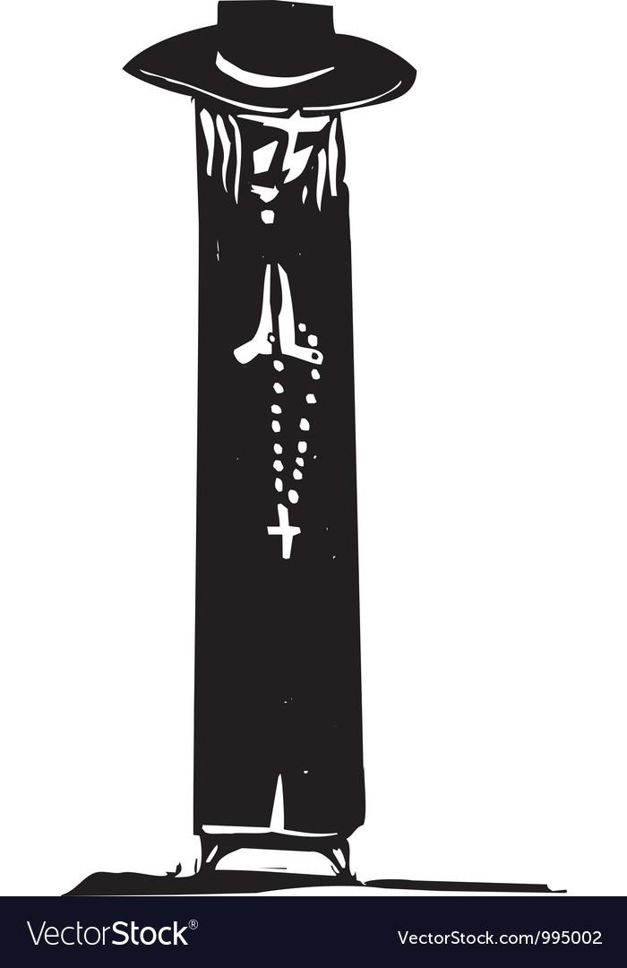 Rosary Prayer vector image