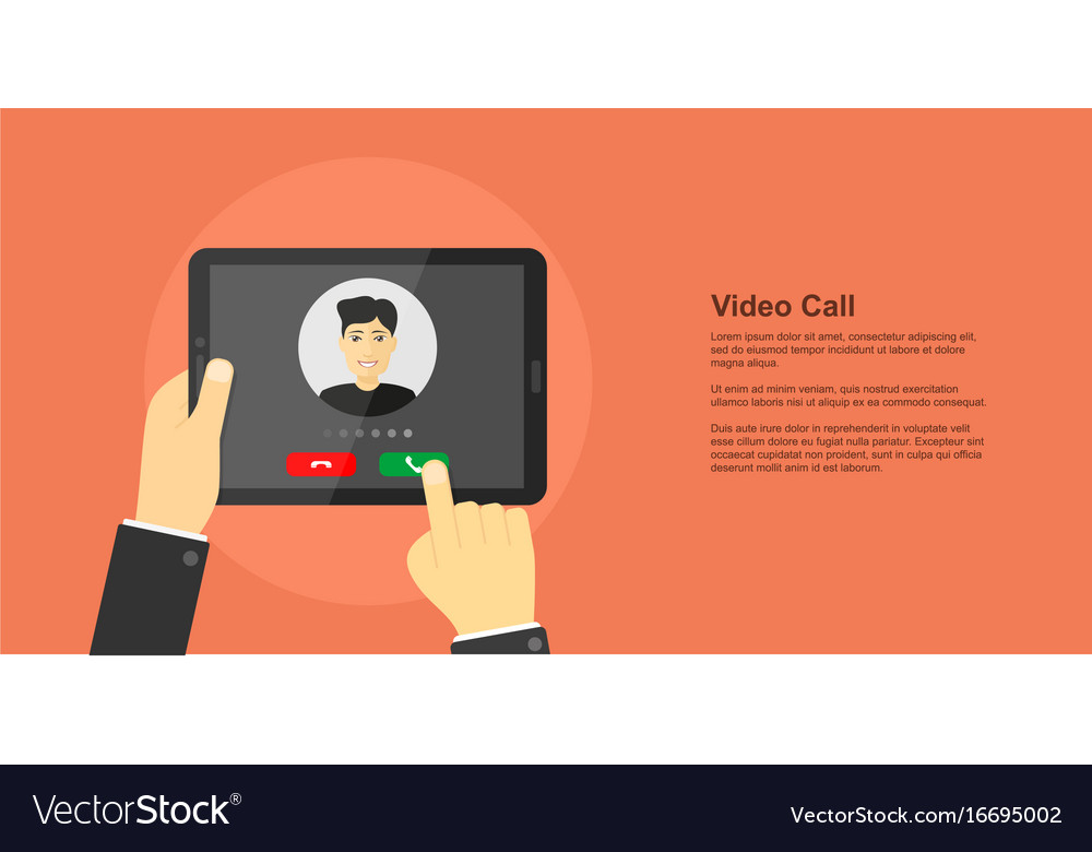 Video call concept banner