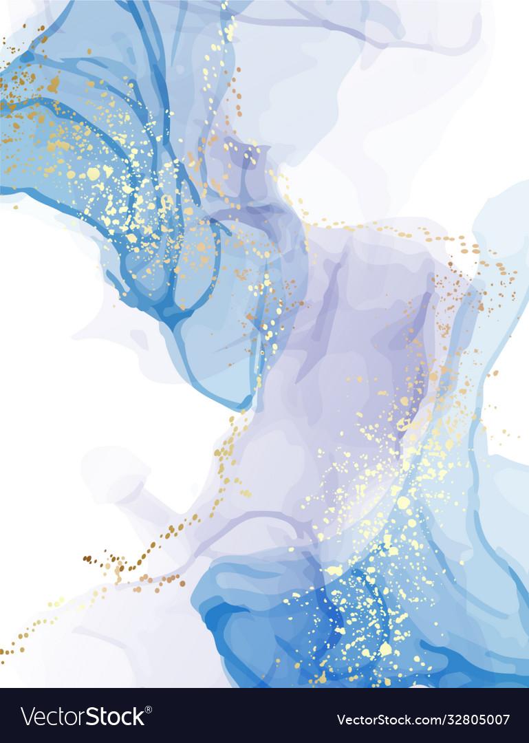 Marble blue watercolor pattern deep sea color