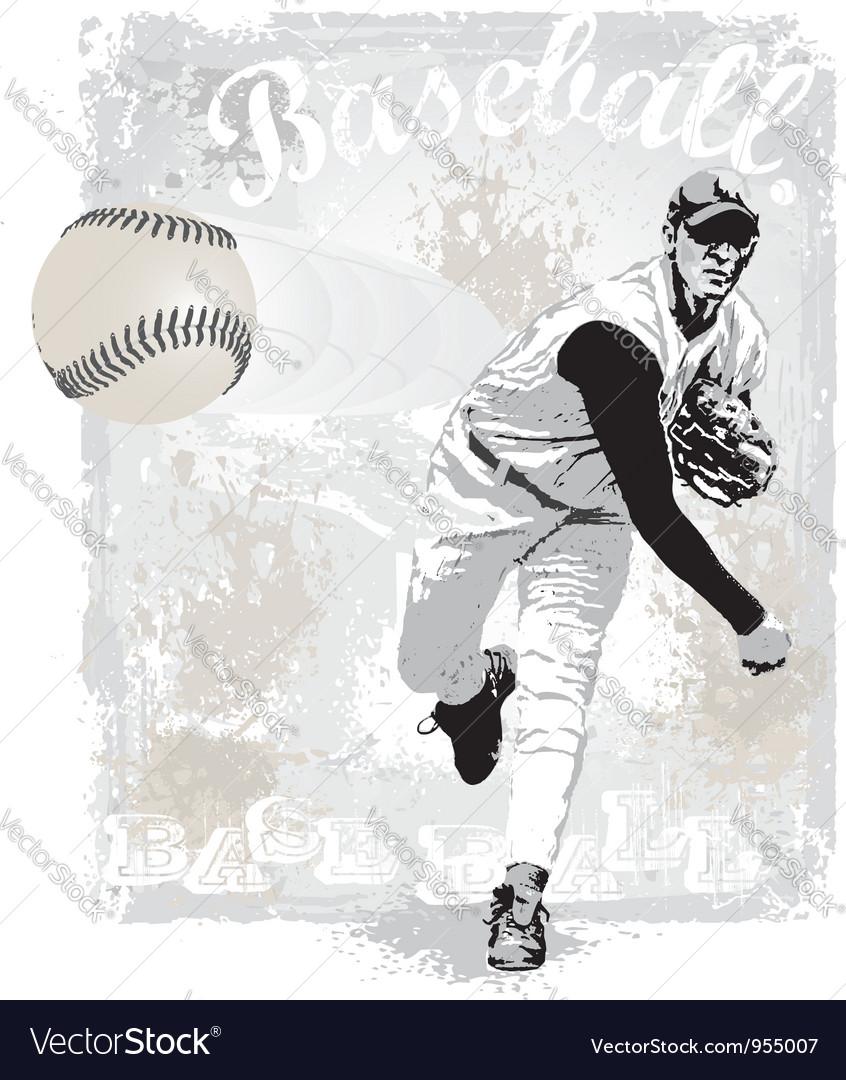 Pitcher strike vector image