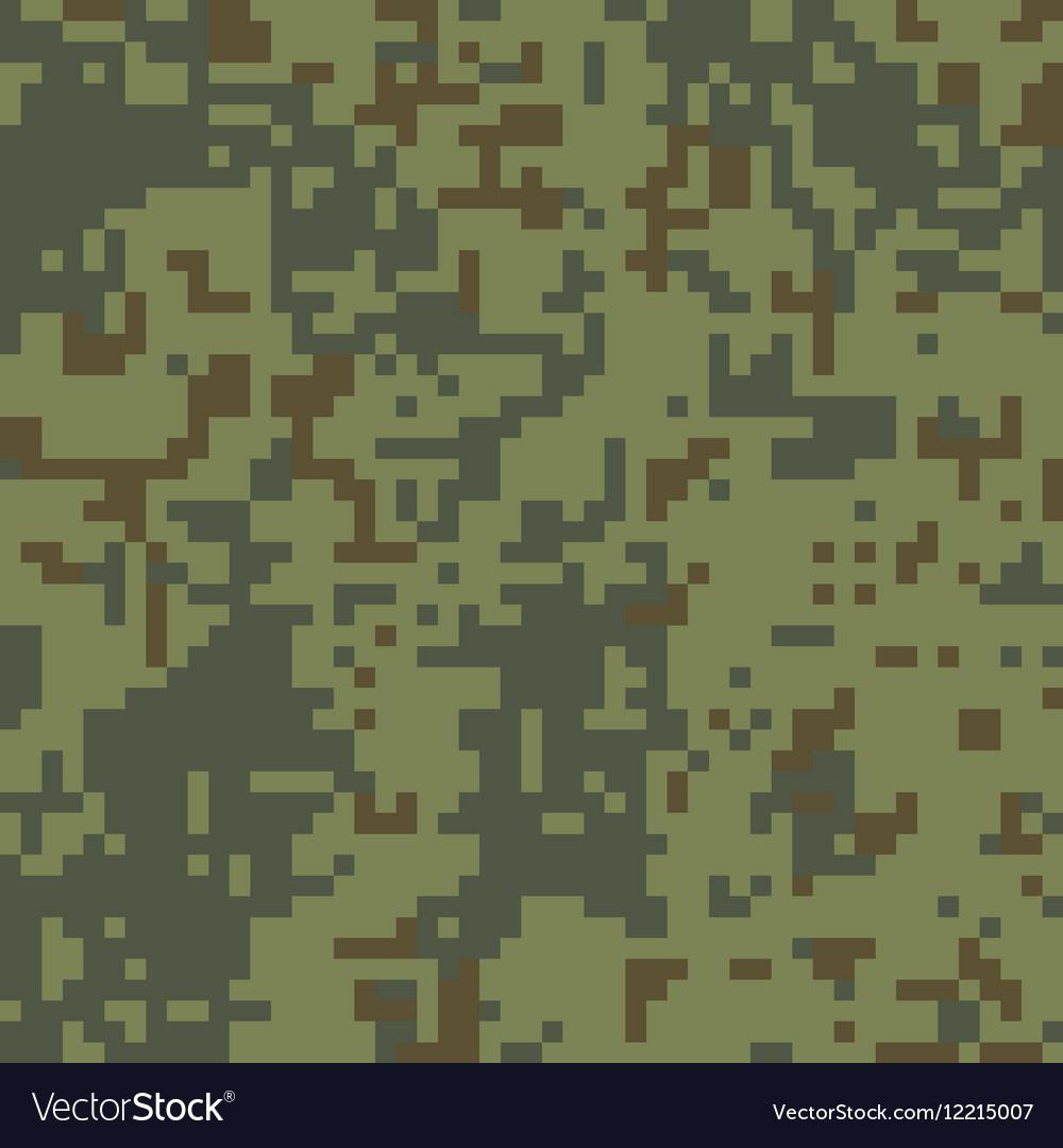 Pixel camo seamless pattern Green forest