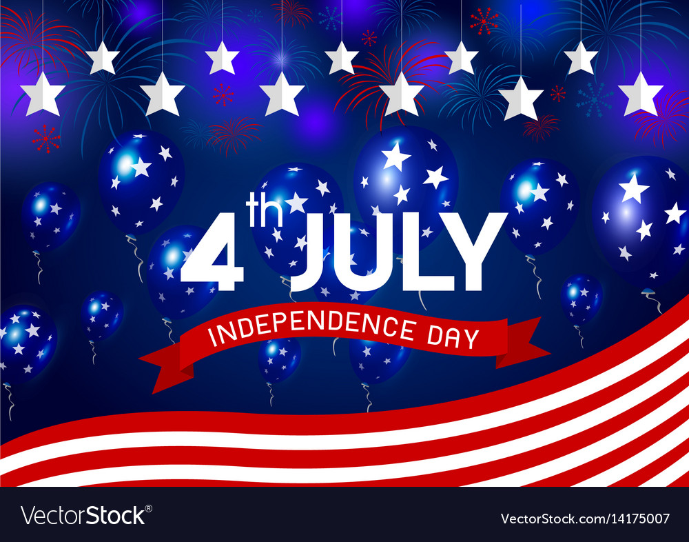Usa 4 july independence day design vector image