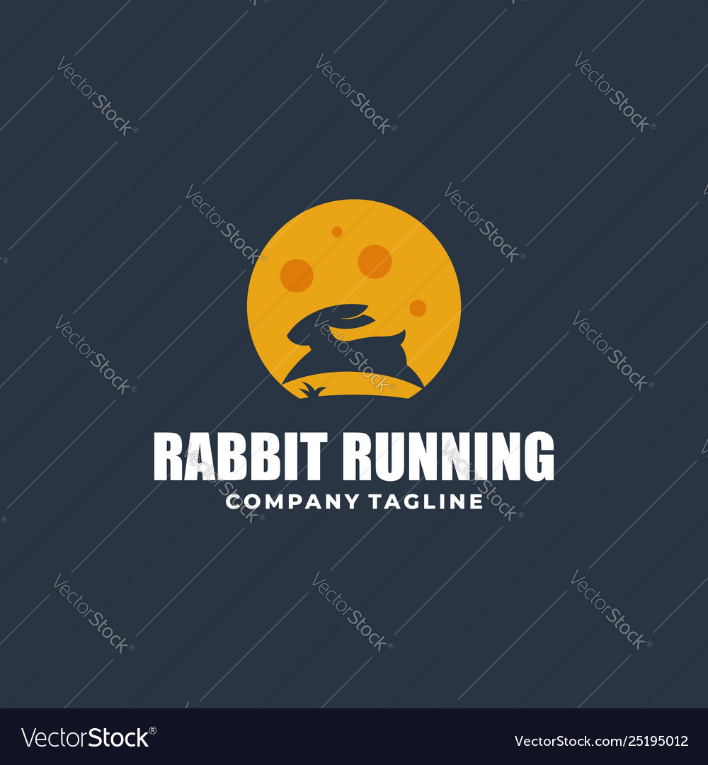 Abstract rabbit color concept template