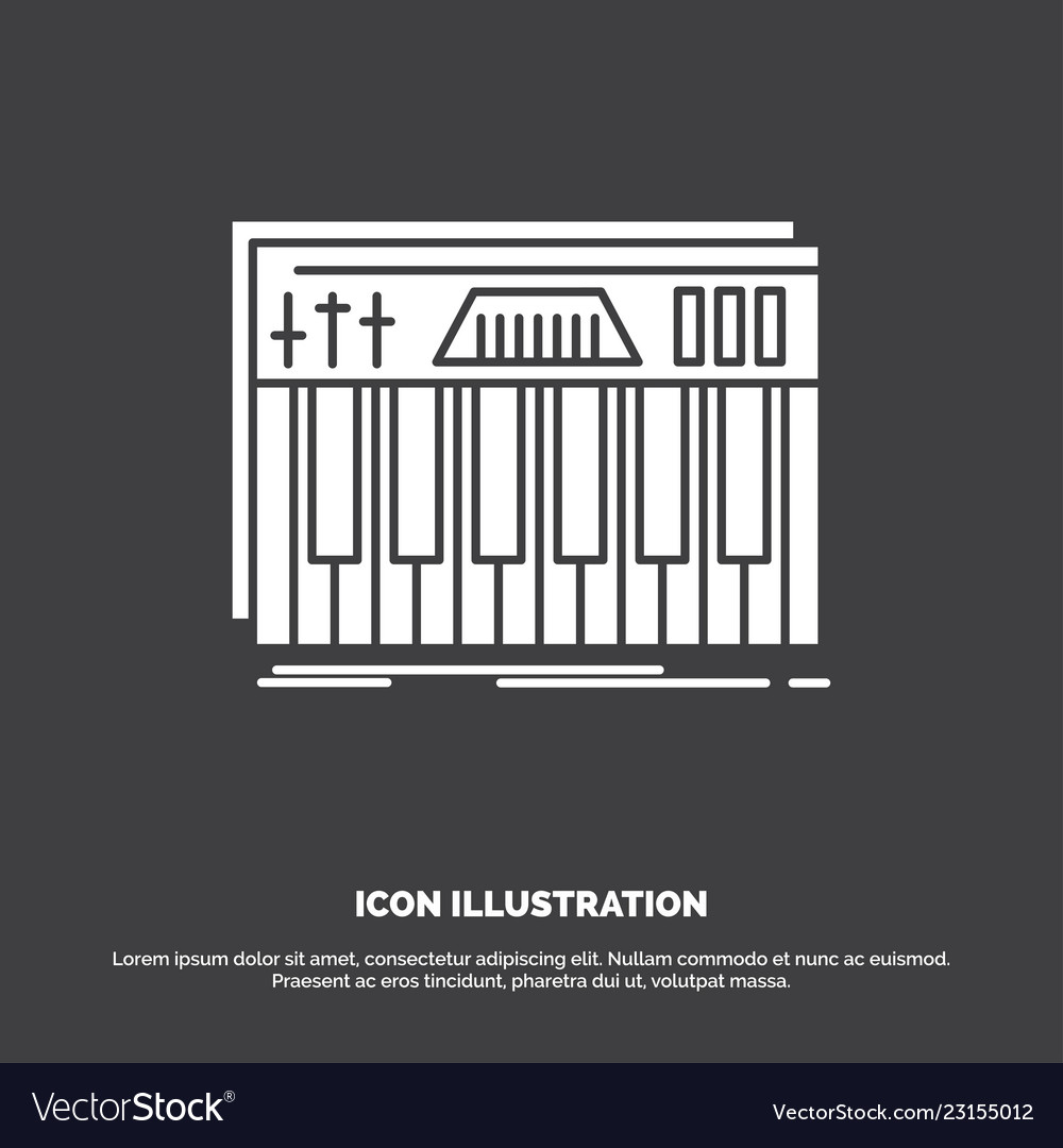 Controller keyboard keys midi sound icon glyph vector image on VectorStock
