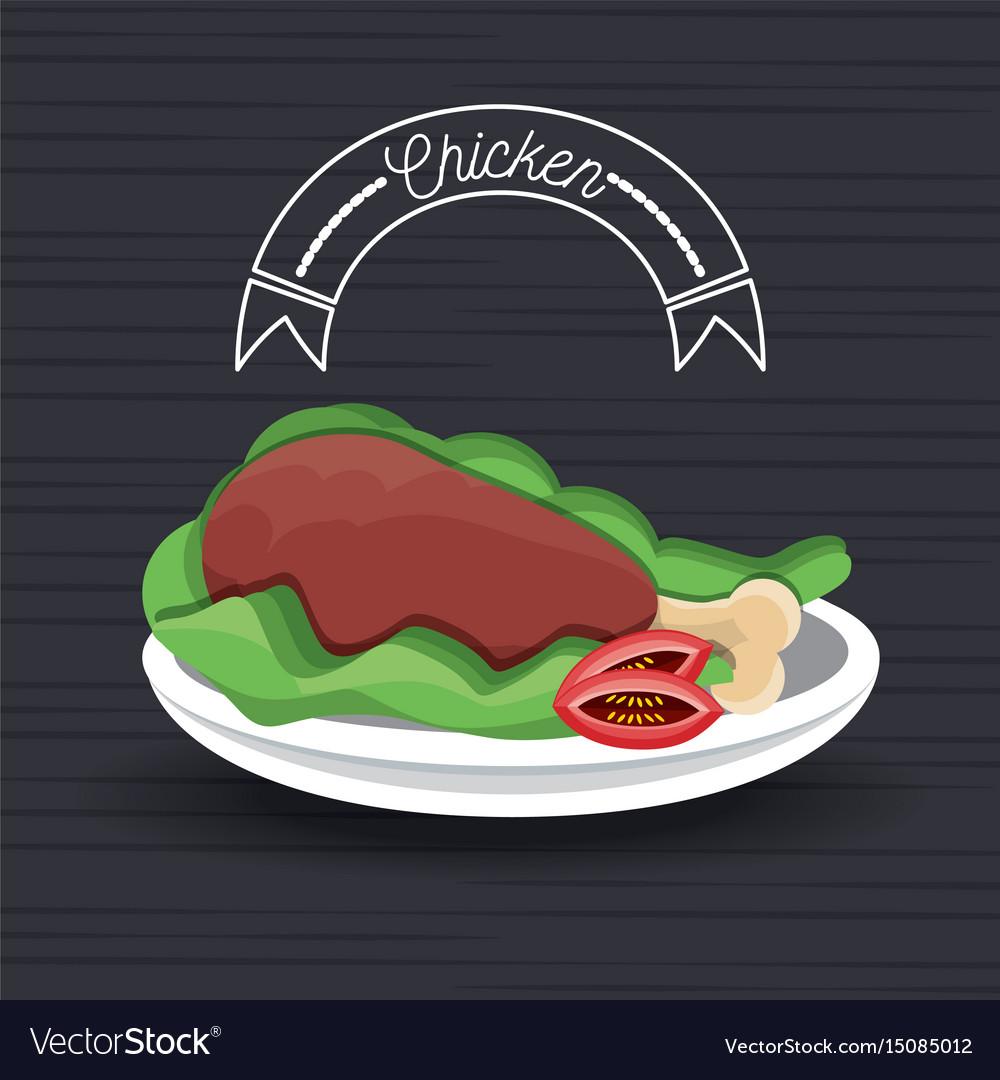 Delicious roasted chicken thigh menu restaurant