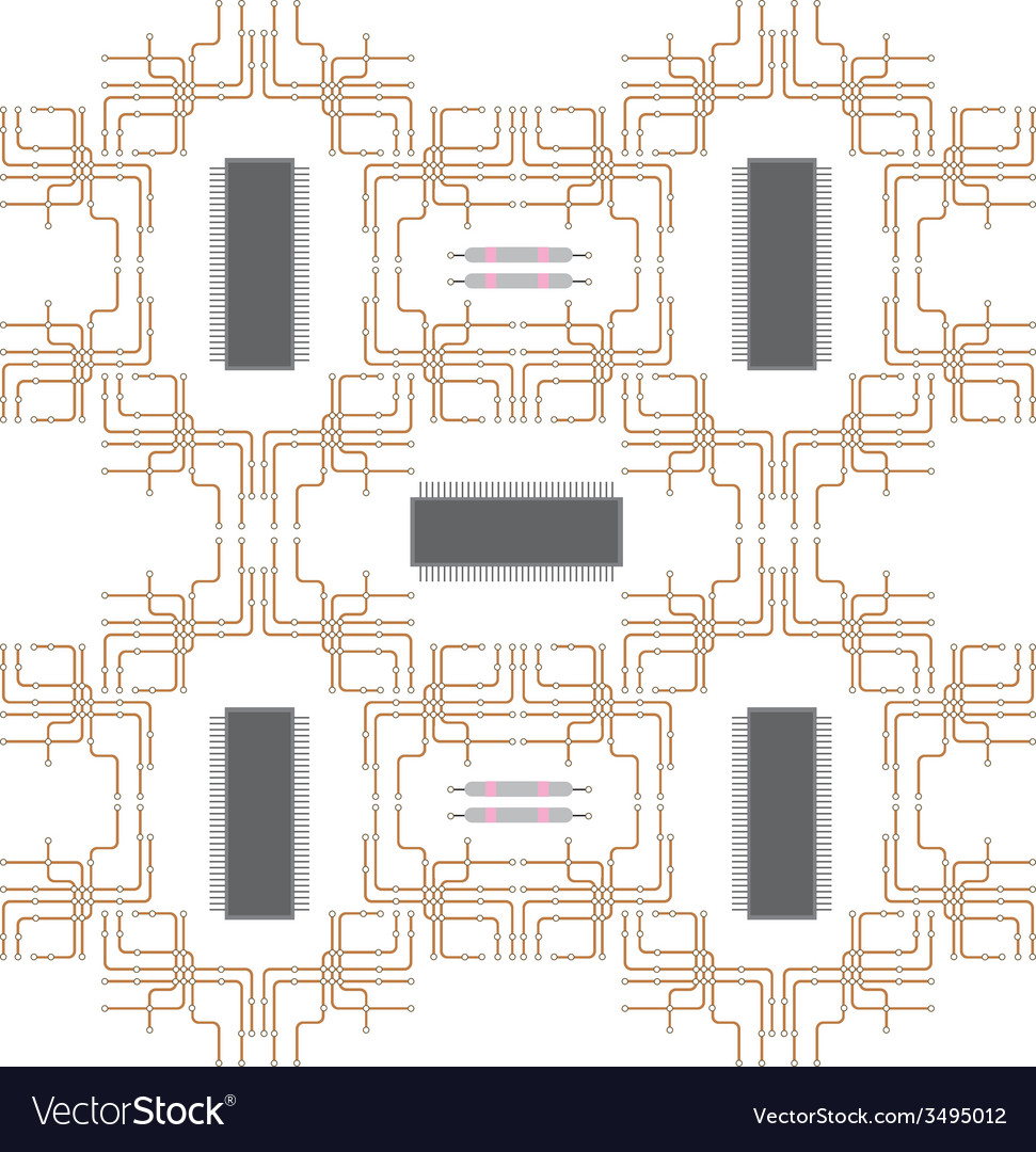 Electrical circuit vector image