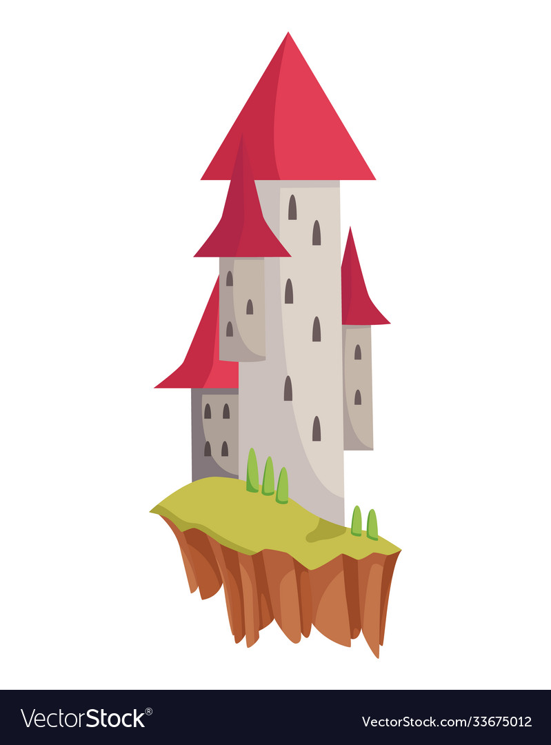 Medieval kingdom character fairy-tale castle
