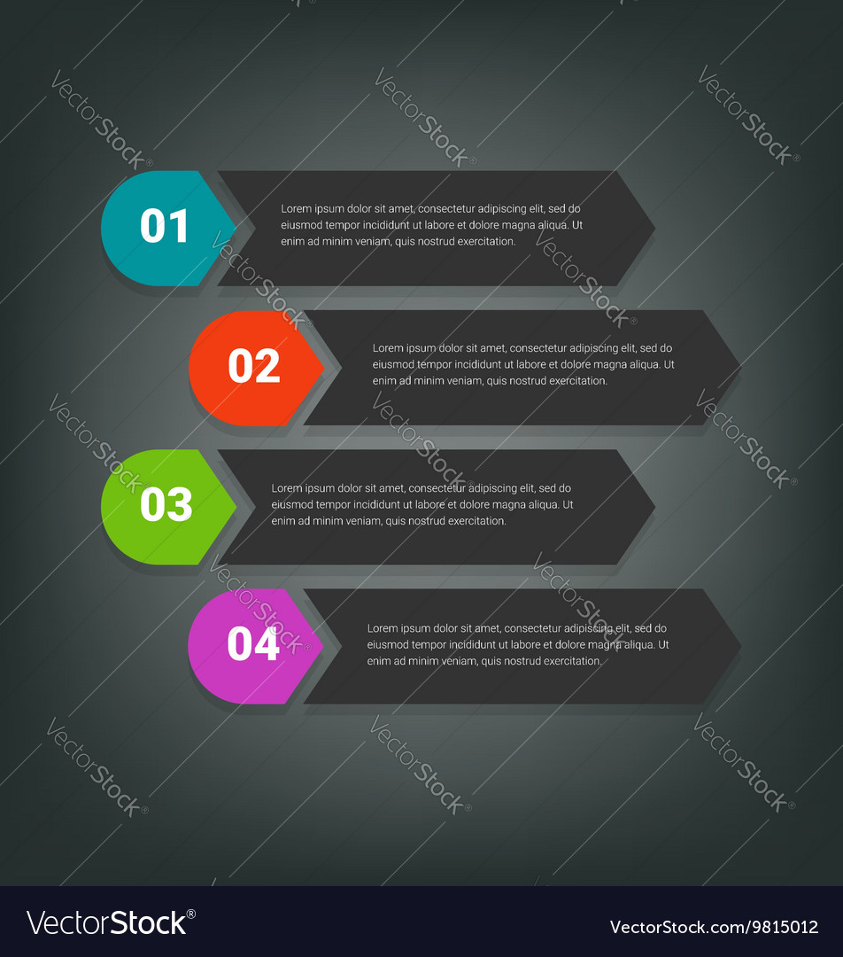 Steps design for business info-graphics