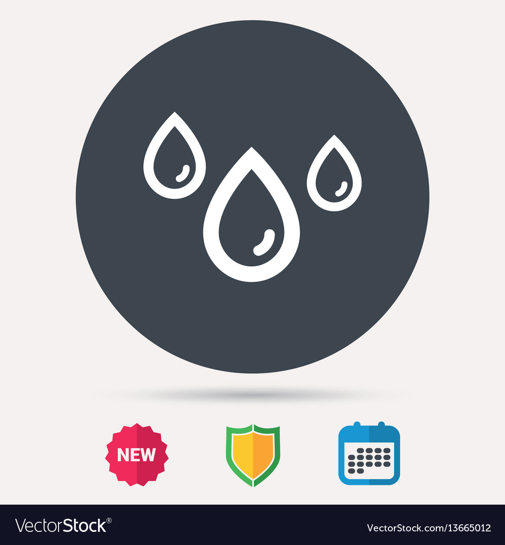 Water drop icon rainy weather sign