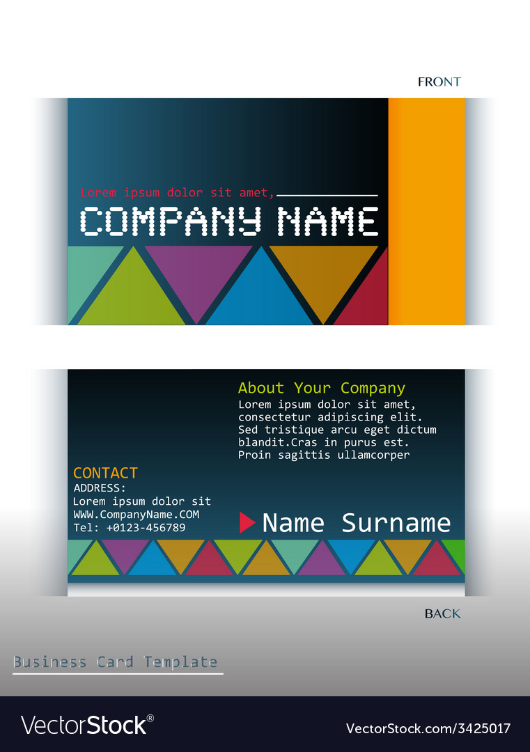A colourful business card royalty free vector image a colourful business card vector image reheart Images