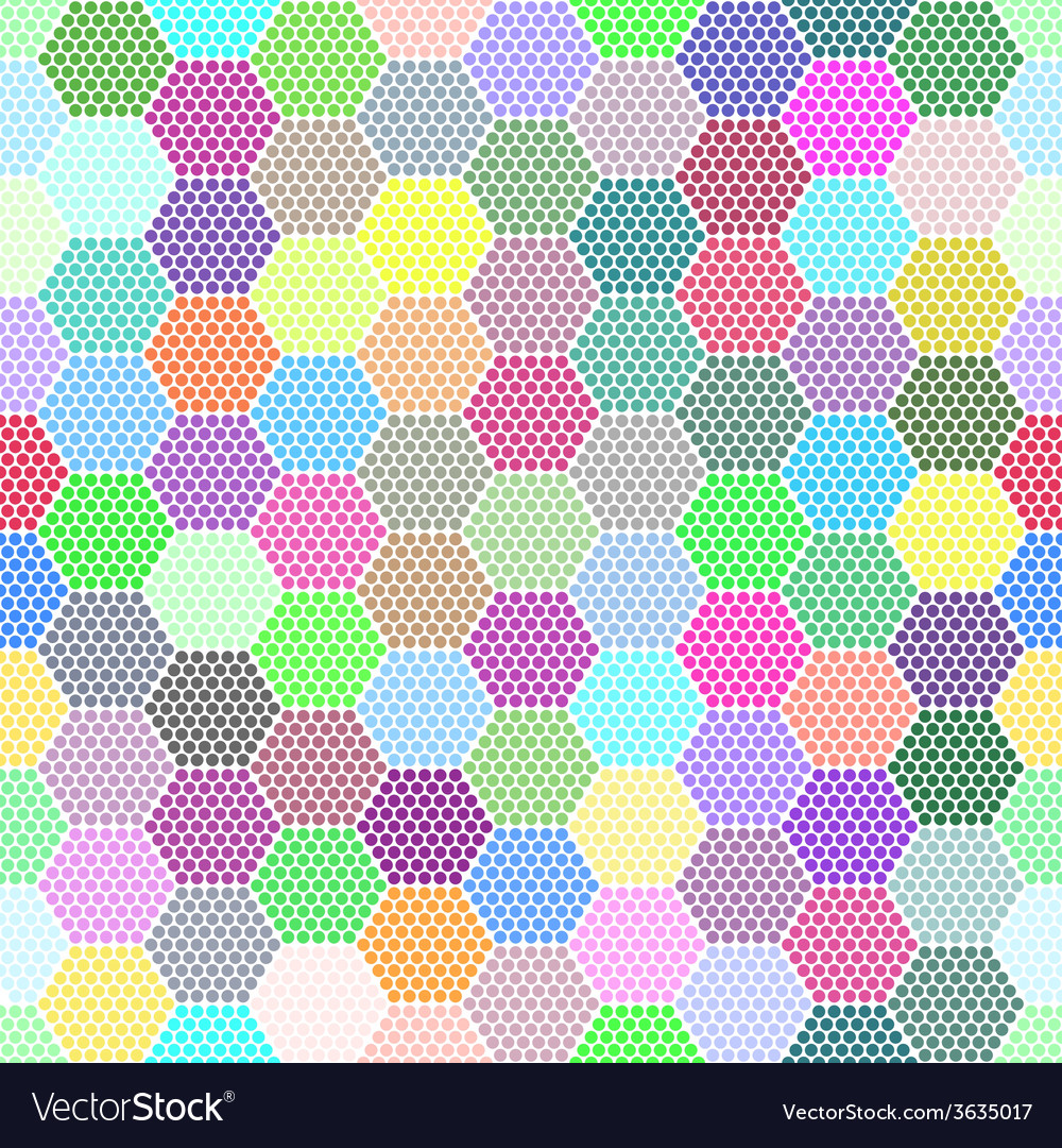 Abstract Hexagon Dots background