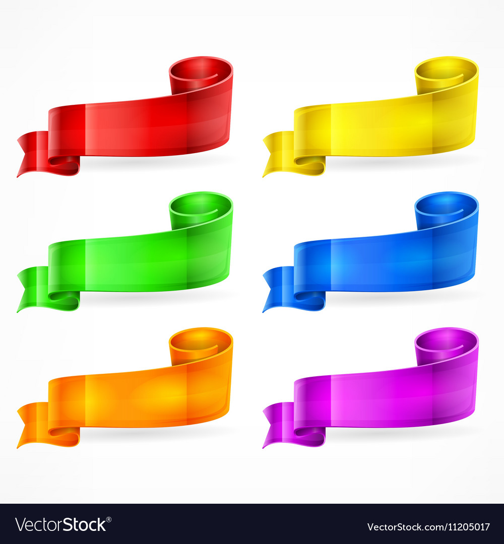 Color ribbons Set vector image