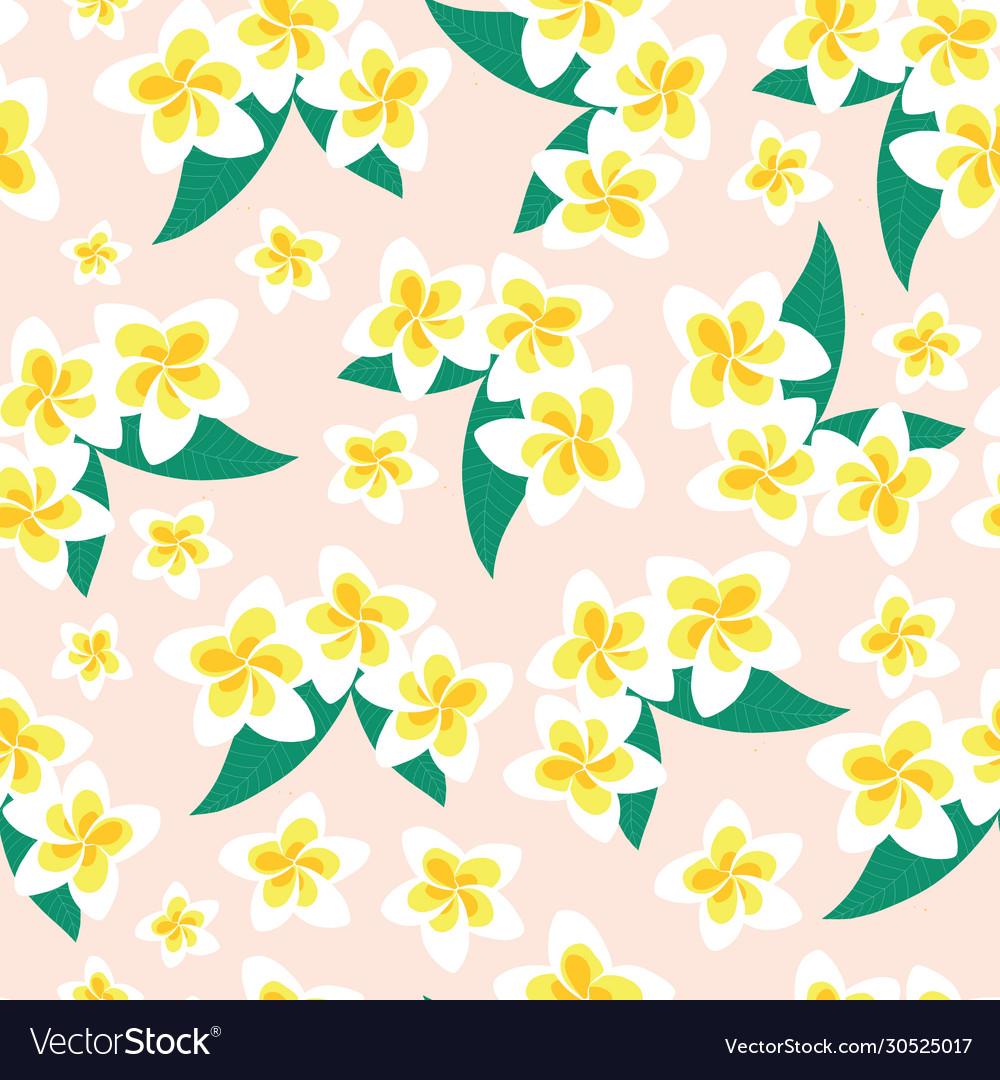 Frangipani flower seamless pattern