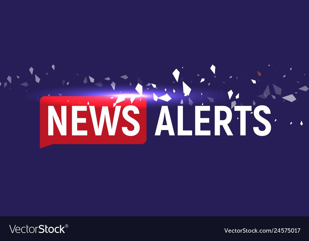 News alerts breaking news tv background design