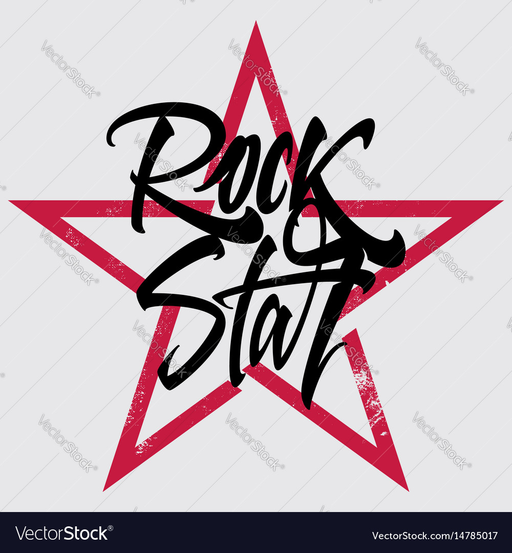 Rock star print for t-shirt banner billboard vector image