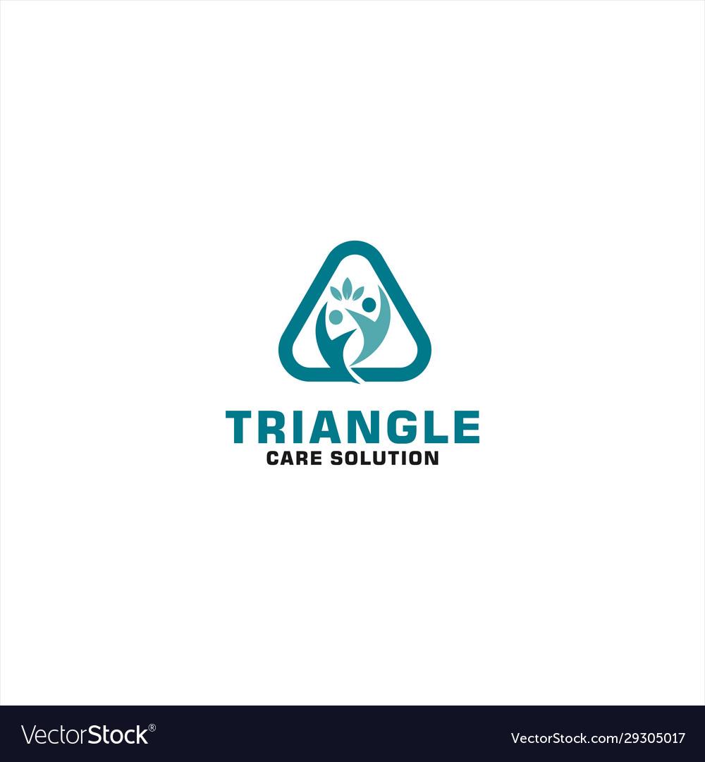 Triangle human abstract logo design