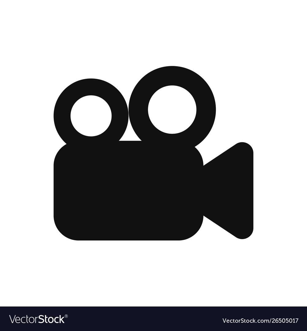 Video camera icon in modern design style for web