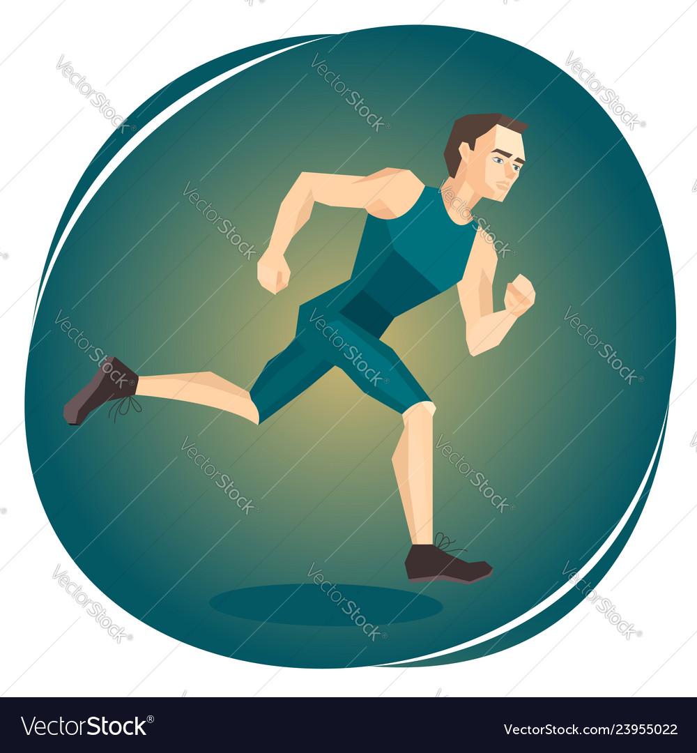 A running athlete