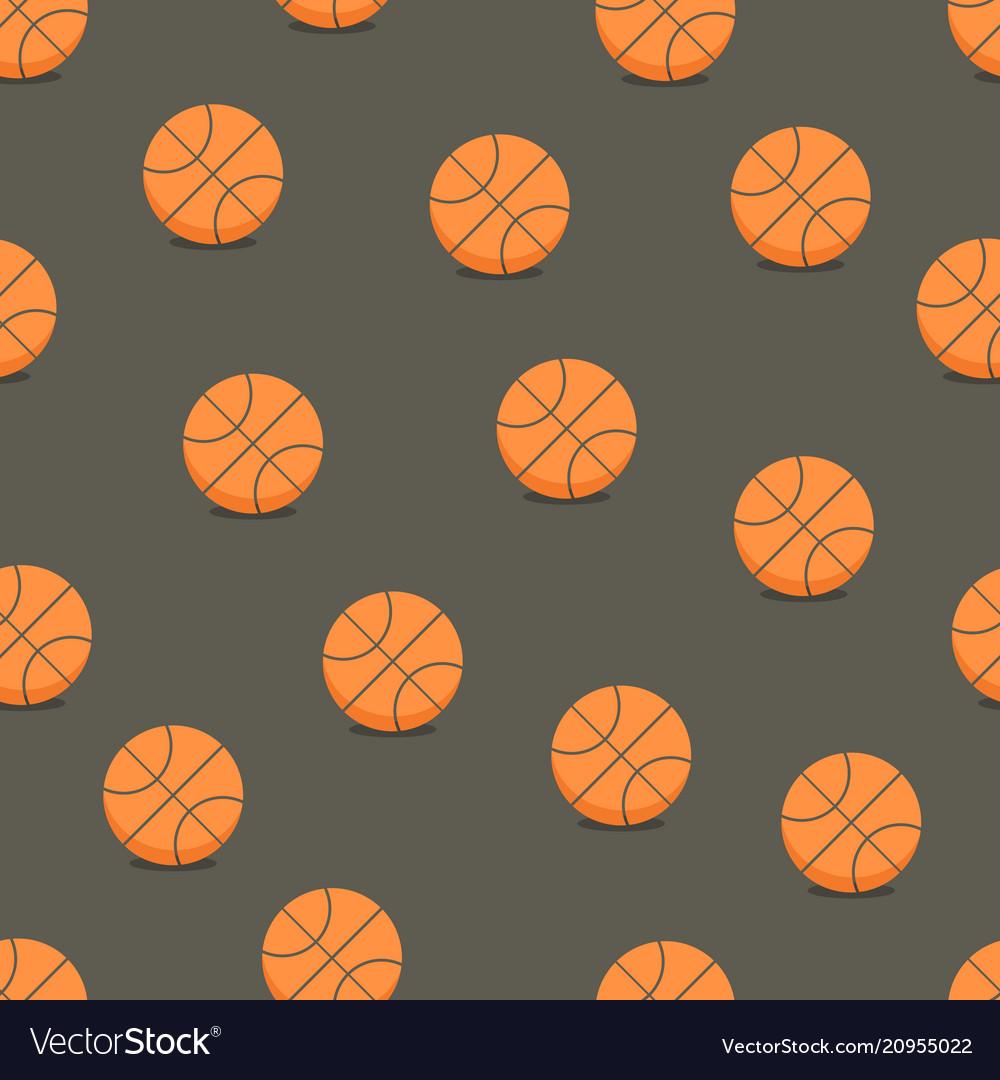 Basketball balls seamless background