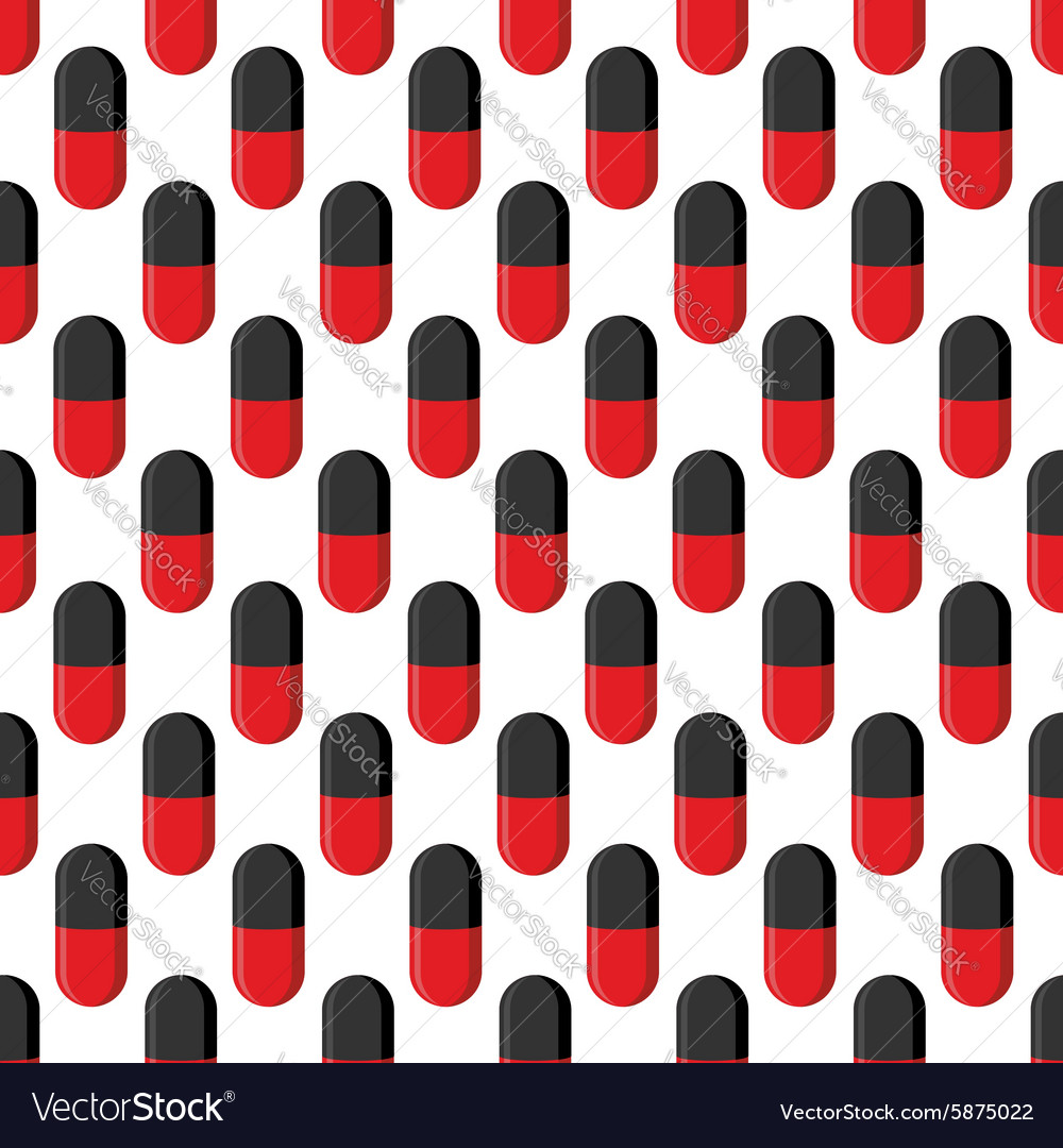 Capsule medical seamless pattern Pills background