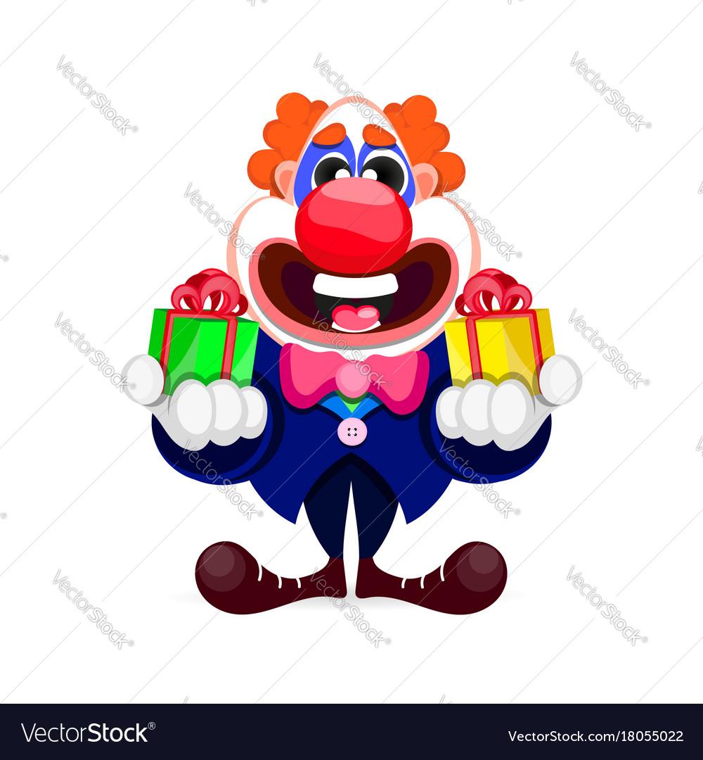 Cartoon beautiful clown