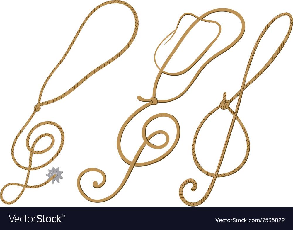 Cowboy treble clef vector image