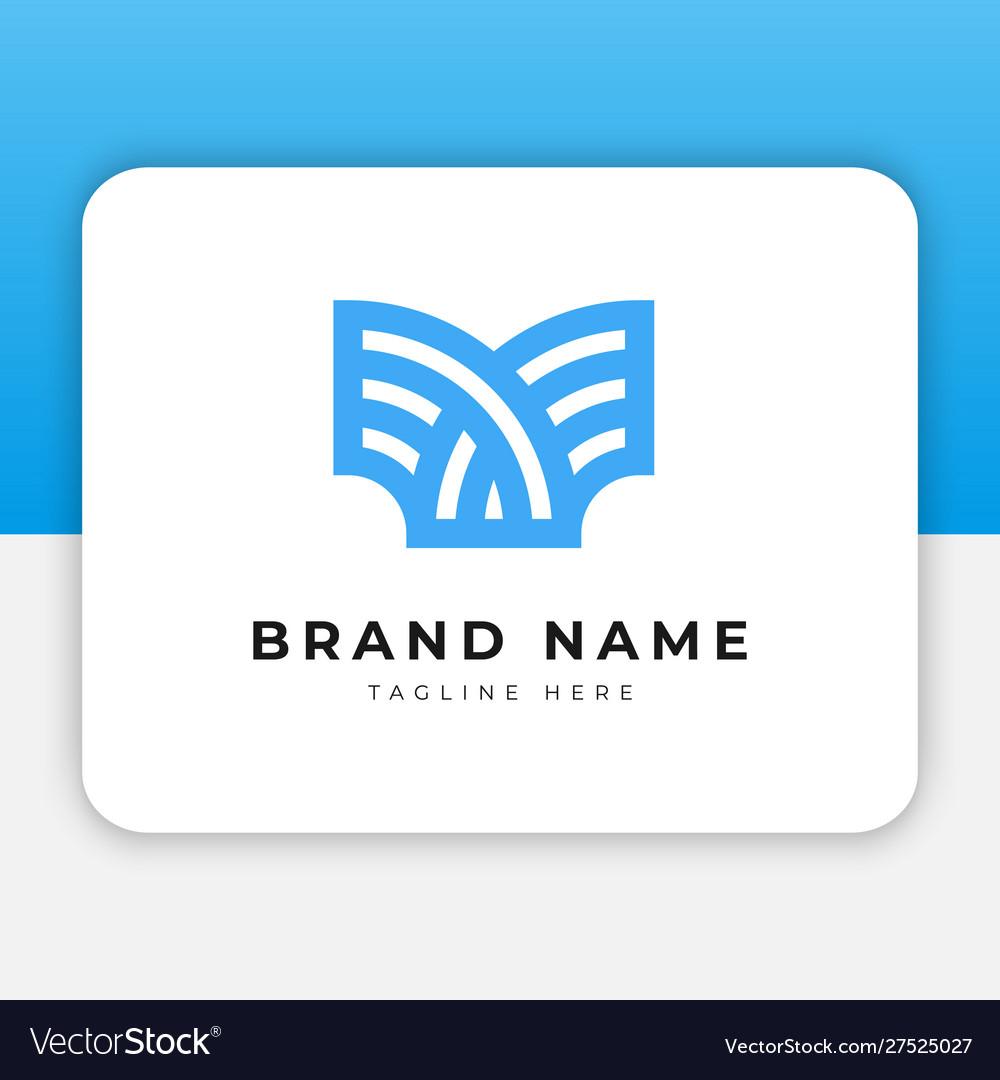 Abstrat book education logo design inspiration
