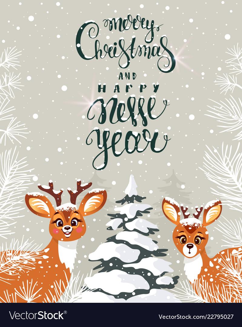 Cute deer amazing winter