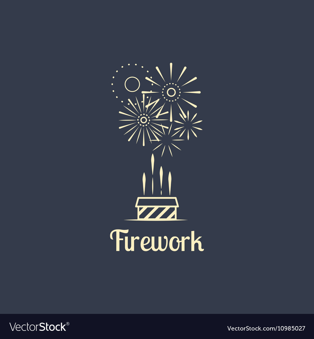 Firework company logo on dark background