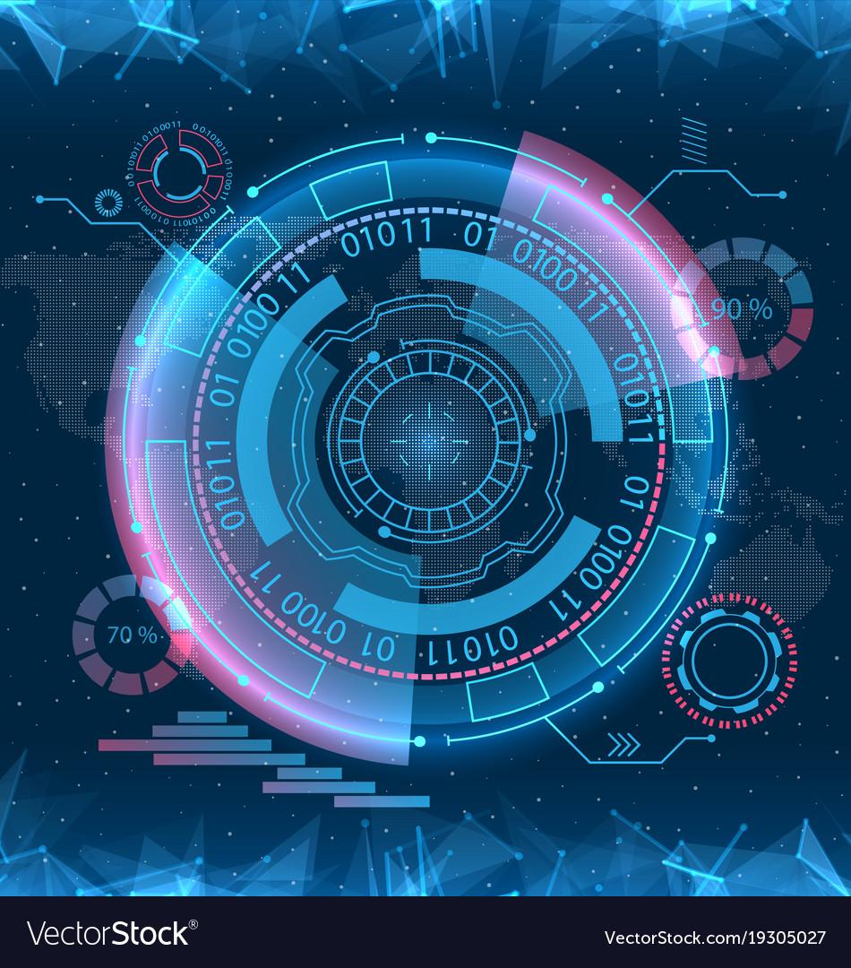 futuristic interface hud design infographic vector image