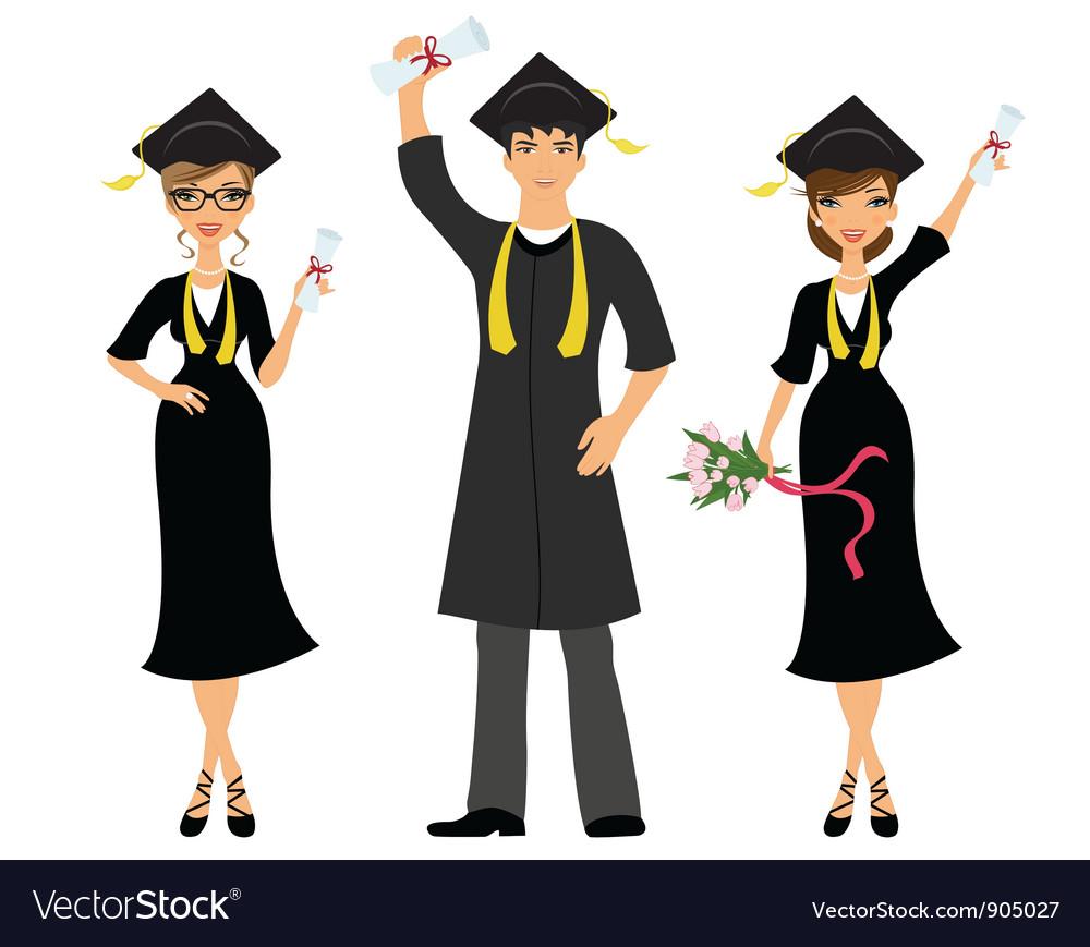 Happy graduation vector image