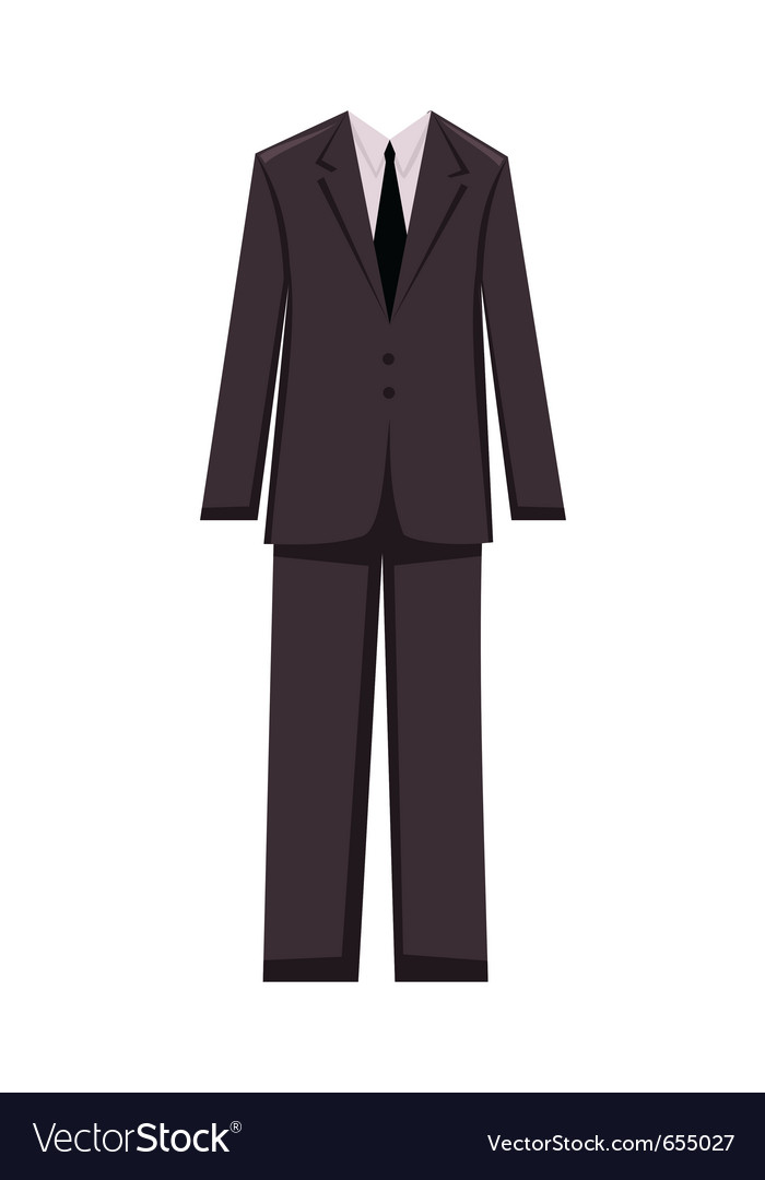 Male business suit design elements vector image