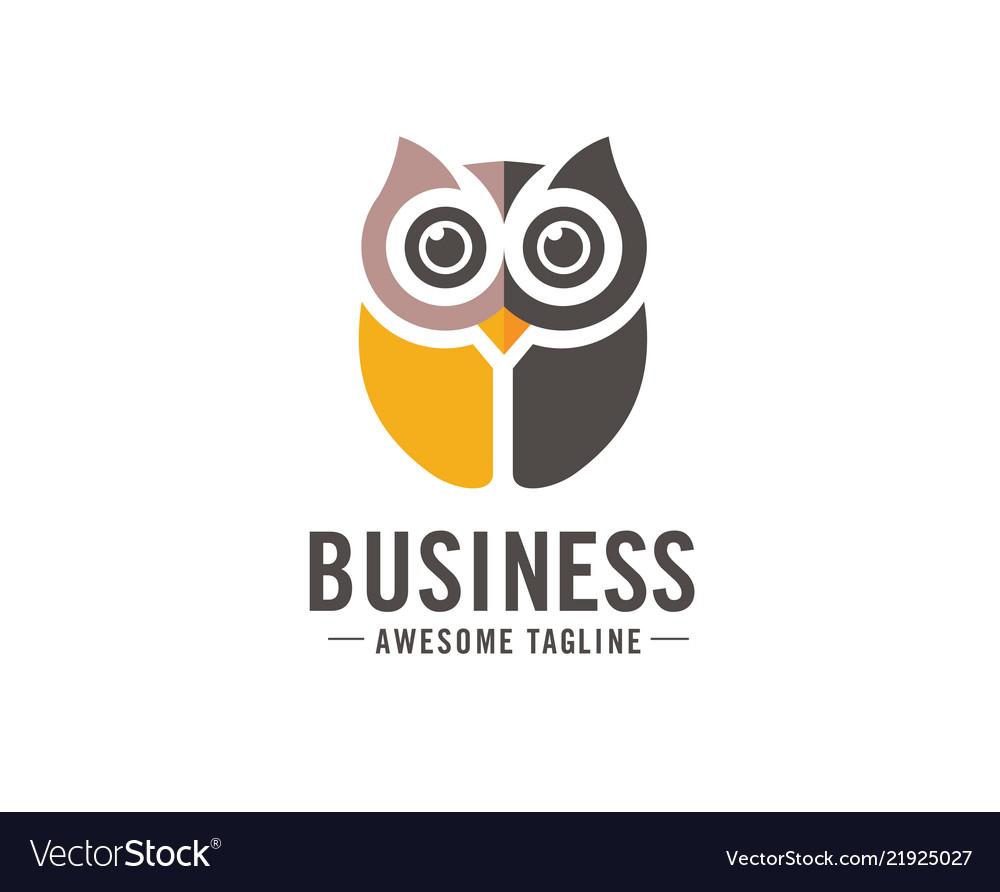 Owl logo in modern colorful logo design