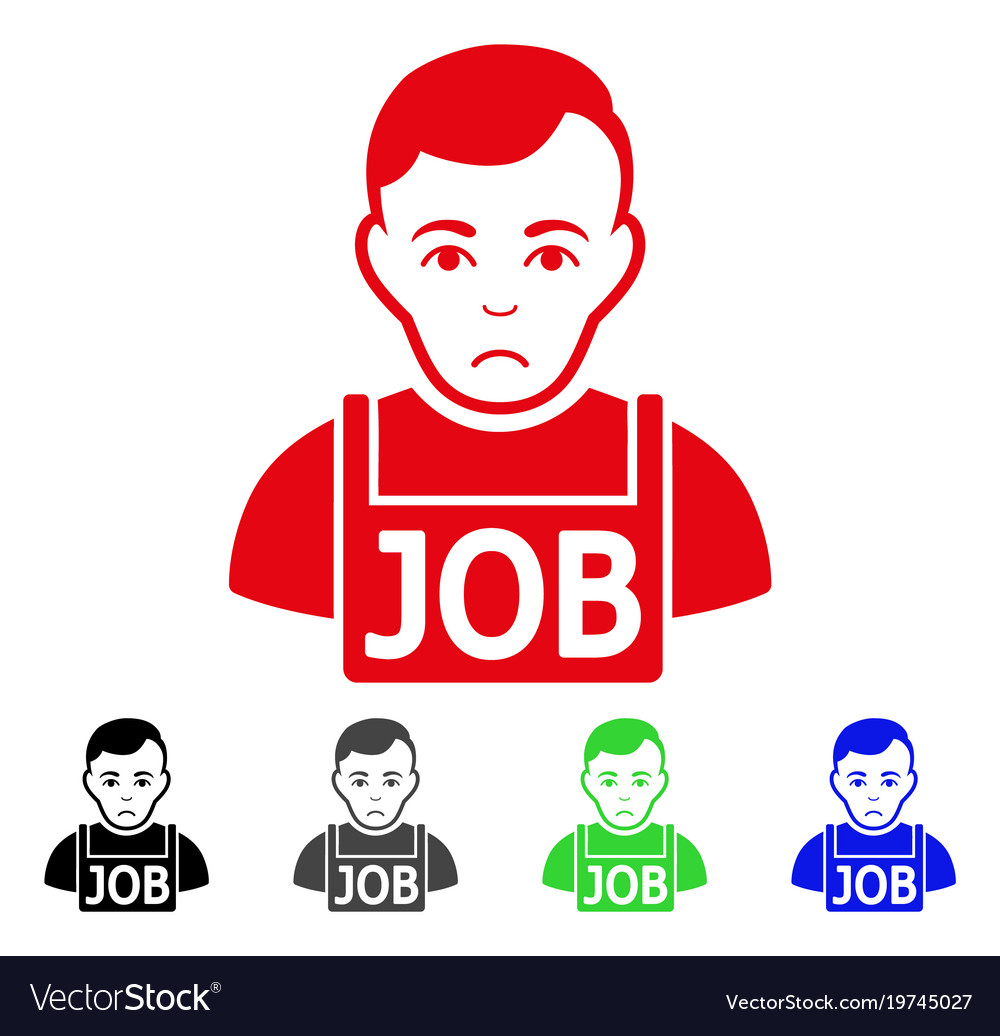 Sad jobless icon vector image