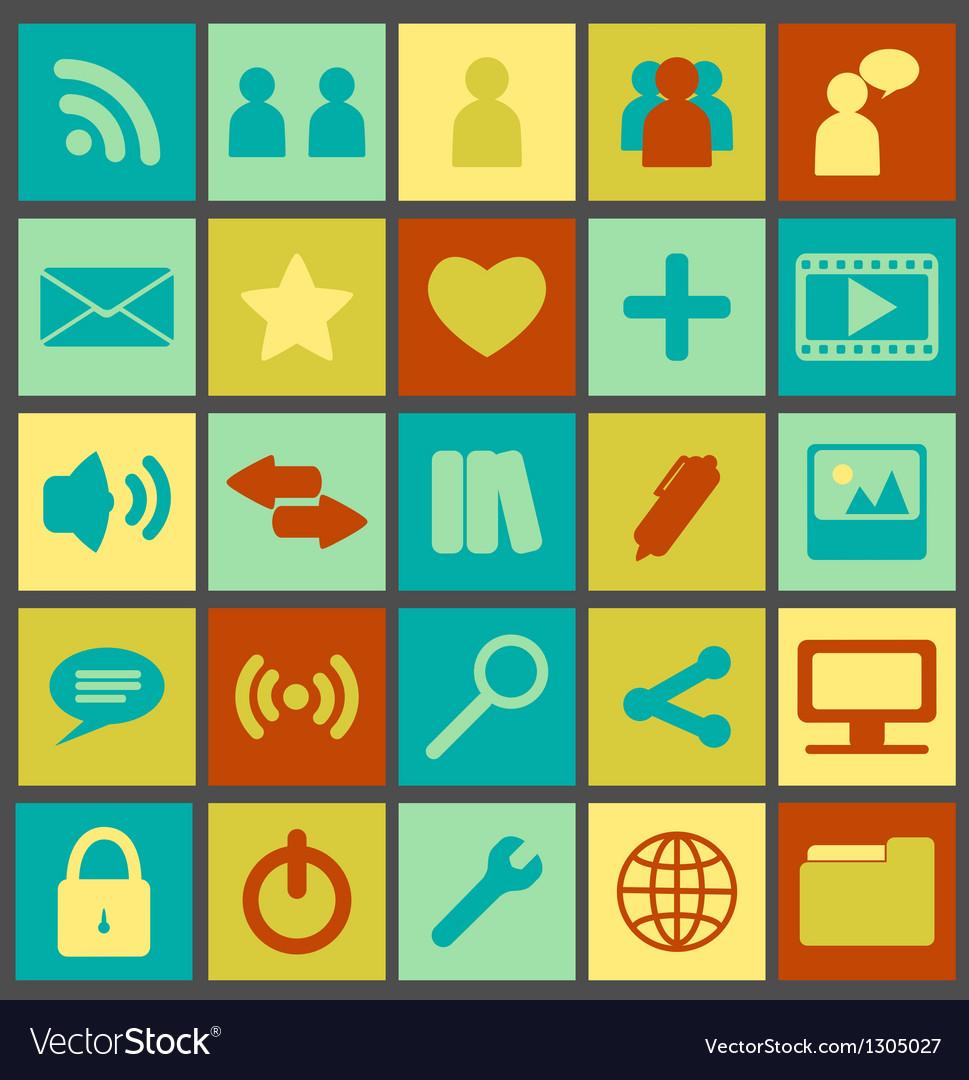 Simple Retro Media Icons